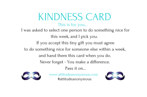 Attitude Anonymous Kindness Cards